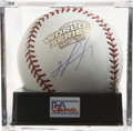 Autographs:Baseballs, David Ortiz Single Signed Baseball Mint PSA 9. A gorgeous sidepanel signature of the Red Sox outfielder from the year he h...