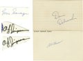 Autographs:Others, Miscellaneous Sports Stars Signatures Lot of 31. Offered lotcontains a wide array of signatures of sports legends of many ...