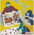 Original Comic Art:Covers, Dick Sprang - Detective Comics #118 Cover Recreation Original Art (1990). Batman's nemesis, the Joker, that Harlequin of Hat...