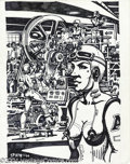 Original Comic Art:Covers, Spain Rodriguez - Filth Magazine Cover Original Art (1994). Keepthe machines rolling with this cool cover by one of the Z...