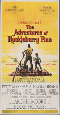 "The Adventures of Huckleberry Finn (MGM, 1960). Folded, Fine/Very Fine. Three Sheet (41"" X 79""). Adventure..."