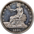 Proof Trade Dollars, 1881 T$1 PR60 Cameo NGC. NGC Census: (0/116). PCGS Population: (2/129). PR60. Mintage 960. ...
