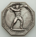 """Austria, Austria: Franz Joseph I silver """"200 Years of the Imperial Infantry"""" Medal 1916 UNC, ..."""