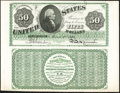 Counterfeit Detector Page $50 1862 Legal Tender Face and Back. Not Graded