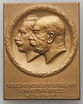 "Austria, Austria: Franz Joseph I Uniface ""Vereins-Reserve-Spital of the Red Cross"" Plaquette 1915 UNC, ..."
