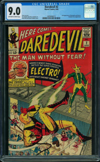 Daredevil #2 (Marvel, 1964) CGC VF/NM 9.0 Off-white to white pages
