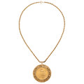 Estate Jewelry:Necklaces, Gold Coin, Gold Pendant-Necklace . ...