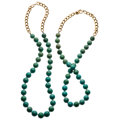 Estate Jewelry:Necklaces, Turquoise, Gold Necklaces . ... (Total: 2 Items)