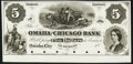Obsoletes By State:Nebraska, Omaha City, NE (Terr.)- Omaha and Chicago Bank $5 18__ Proof G8 Choice Crisp Uncirculated, 6 POCs.. ...
