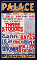 Movie Posters:Comedy, Hollywood's Three Stooges: First British Personal Appearance (1939). Folded, Fine/Very Fine. Locally Produced British One Sh...