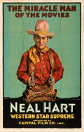 Movie Posters:Western, Neal Hart (Capital Film, 1919). Folded, Fine/Very Fine.