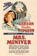 "Movie Posters:Academy Award Winners, Mrs. Miniver (MGM, 1942). Very Fine- on Linen. One Sheet (27.25"" X 41"") Style D.. ..."