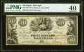 Obsoletes By State:Michigan, Marshall, MI- Calhoun County Bank $50 Apr. 1, 1837 G14 Lee MAS 1-9 PMG Extremely Fine 40.. ...