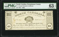 (Hertford), NC- Perquimans County $1 Apr. 25, 1862 PMG Choice Uncirculated 63 EPQ