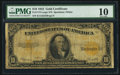 Large Size:Gold Certificates, Fr. 1173 $10 1922 Gold Certificate PMG Very Good 10.. ...
