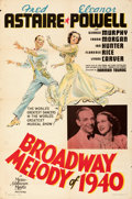 Movie Posters:Musical, Broadway Melody of 1940 (MGM, 1940). Folded, Very Fine.