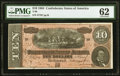 Confederate Notes:1864 Issues, T68 $10 1864 PMG Uncirculated 62.. ...