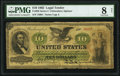 Fr. 93f $10 1862 Legal Tender PMG Very Good 8 Net