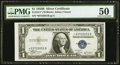 Small Size:Silver Certificates, Fr. 1611* $1 1935B Silver Certificate. PMG About Uncirculated 50.. ...