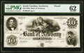 Newberry, SC- Bank of Newberry $10 185_ as G4 as Sheheen 290 Proof PMG Uncirculated 62