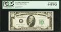 Small Size:Federal Reserve Notes, Fr. 2010-A $10 1950 Wide Federal Reserve Note. PCGS Very Choice New 64PPQ.. ...