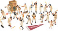 Baseball Collectibles:Hartland Statues, 1960-62 Hartland Statues Complete Set of 18 With Minor Leaguer & Batboy....