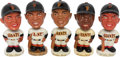 Baseball Collectibles:Others, 1961-63 Willie Mays Nodders Lot of 5. Made in Jap...