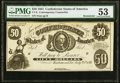 Confederate Notes:1861 Issues, CT8/16 Contemporary Counterfeit $50 1861 Remainder PMG About Uncirculated 53.. ...