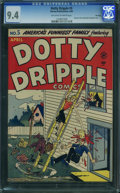 Golden Age (1938-1955):Humor, Dotty Dripple #5 - File Copy (Harvey, 1949) CGC NM 9.4 Off-white to white pages.