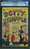 Golden Age (1938-1955):Humor, Dotty Dripple #6 (Harvey, 1949) CGC NM 9.4 Cream to off-white pages.