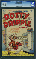Golden Age (1938-1955):Humor, Dotty Dripple #7 - File Copy (Harvey, 1949) CGC NM 9.4 Cream to off-white pages.