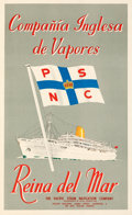 """Movie Posters:Miscellaneous, S.S. Reina del Mar (Pacific Steam Navigation Company, 1950s). Very Fine+ on Linen. British Travel Poster (12"""" X 19""""). Miscel..."""