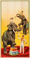 Movie Posters:Miscellaneous, Stock Circus Poster (Erie Litho Company, 1920s). Folded, V...