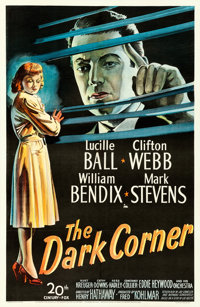 "The Dark Corner (20th Century Fox, 1946). Very Fine- on Linen. One Sheet (27"" X 41.5"")"