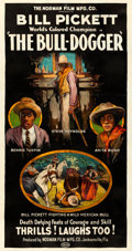 """Movie Posters:Western, The Bull-Dogger (Norman, 1921). Fine/Very Fine on Linen. Three Sheet (41"""" X 77.5"""").. ..."""