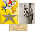 Animation Art:Limited Edition Cel, Walter Lantz Signed Check and Related Items Group of 8 (Walter Lantz c. 1940-90s).... (Total: 8 Items)