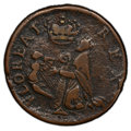 (1670-75) FARTH St. Patrick Farthing VF30 PCGS. PCGS Population: (41/100 and 0/0+). NGC Census: (13/10 and 0/0+). CDN: $...