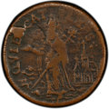 (1670-75) FARTH St. Patrick Farthing, Halo Reverse VF30 PCGS. PCGS Population: (1/1 and 0/0+). NGC Census: (1/0 and 0/0+...