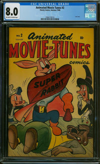 Animated Movie-Tunes #2 (Timely, 1946) CGC VF 8.0 OFF-WHITE TO WHITE pages