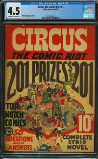 Circus the Comic Riot #1 (Globe Syndicate, 1938) CGC VG+ 4.5 CREAM TO OFF-WHITE pages