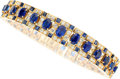 Estate Jewelry:Bracelets, Diamond, Sapphire, Gold Bracelet. ...