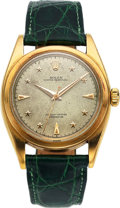 """Timepieces:Wristwatch, Rolex, Extremely Rare Ref. 6098 """"Stelline"""" Honeycomb Dial, Oyster """"Pre-Explorer"""", 18k Gold, Circa 1953. ..."""