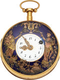 Timepieces:Pocket (pre 1900) , Swiss 18k Gold Quarter Repeating Verge Fusee With Automato...