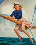 Paintings, Gil Elvgren (American, 1914-1980). Bow Spirit, circa 1960. Oil on canvas. 30 x 24 inches (76.2 x 61.0 cm). Signed lower ...
