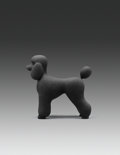 Sculpture, Katharina Fritsch (b. 1952). Pudel (Poodle), 1995. Painted plaster. 16 x 15-1/2 x 7 inches (40.6 x 39.4 x 17.8 cm). Ed. ...