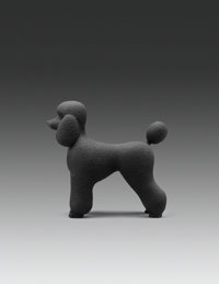 Katharina Fritsch (b. 1952) Pudel (Poodle), 1995 Painted plaster 16 x 15-1/2 x 7 inches (40.6 x 3