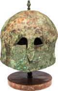 Antiques:Antiquities, Italo-Corinthian Bronze Helmet with Spike.. ...