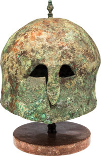 Italo-Corinthian Bronze Helmet with Spike