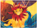 """Memorabilia:Disney, The Lion King """"I Can't Wait to Be King"""" Simba Licensing Style Guide (Walt Disney, c.1990s). ..."""