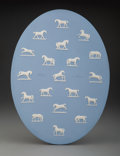 Ceramics & Porcelain, A Wedgwood Horse Studies Plaque after George Stubbs, England, early 20th century . Marks: WEDGWOOD, MADE IN ENGLAND. 15 ...